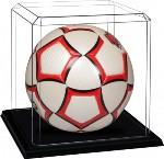 SOCCER BALL FUTBOL ACRYLIC DISPLAY CASE - BLACK MOLDED BASE