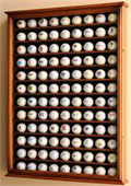 108 GOLF BALL WOOD DISPLAY CASE CABINET