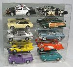 1/18 SCALE DIECAST 10 CAR ACRYLIC DISPLAY CASE - 10 FREE NAME PLATES