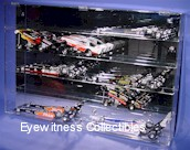 1/24 SCALE DIECAST ACRYLIC DISPLAY CASEFOR 10 NHRA DRAGSTERS OR 15 FUNNY CARS15 FREE PLATES