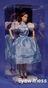 DOLL ACRYLIC DISPLAY CASE FOR 1 BARBIE SIZE DOLL w/ WIDE DRESS