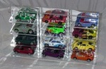 1/64 SCALE DIECAST ACRYLIC DISPLAY CASE - 12 MATCHBOX - HOT WHEELS CARS