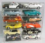 1/18 SCALE DIECAST 12 CAR ACRYLIC DISPLAY CASE - 12 FREE NAME PLATES
