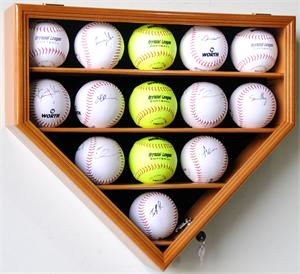 14 Softball Home Plate Shaped Display Case Custom Display