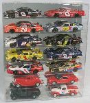 1/24 SCALE 14 CAR DIECAST ACRYLIC DISPLAY CASE - 14 FREE NAME PLATES