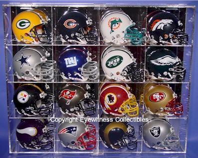 Mini Helmet Acrylic Display Case For 16 Helmets 16 Free