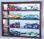 1/18 SCALE 8 CAR DIECAST ACRYLIC DISPLAY CASE - 8 FREE NAME PLATES