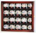 20 Baseball Arcylic Cubes Display Case Cabinet 20 FREE PLATES