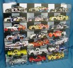 1/24 SCALE DIECAST 21 CAR CHECKERED DISPLAY CASE 21 FREE NAME PLATES