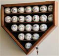 23 Baseball Home Plate Shaped Display Case w/ UV acrylic door 23 FREE PLATES