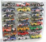 1/24 SCALE DIECAST 24 CAR ACRYLIC DISPLAY CASE - 24 FREE NAME PLATES
