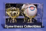 BASEBALL GOLD GLOVE ACRYLIC DISPLAY CASE FOR 2 BALLS