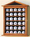 30 GOLF BALL WOOD DISPLAY CASE CABINET