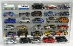 1/64 SCALE DIECAST ACRYLIC DISPLAY CASE - 30 MATCHBOX - HOT WHEELS CARS