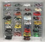 1/43 SCALE DIECAST 36 CAR ACRYLIC DISPLAY CASE - 36 FREE NAME PLATES