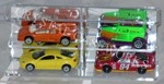 1/64 SCALE DIECAST ACRYLIC DISPLAY CASE - 4 MATCHBOX - HOT WHEELS CARS