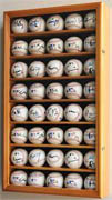 40 Baseball Display Case Cabinet w/ UV acrylic door 40 FREE PLATES