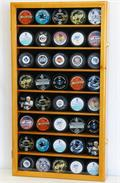 40 Hockey Puck Display Case Cabinet w/ UV acrylic door