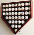 43 Baseball Home Plate Shaped Display Case w/ UV acrylic door 43 FREE PLATES