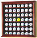 49 GOLF BALL WOOD DISPLAY CASE CABINET