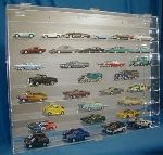 1/43 SCALE DIECAST 54 CAR ACRYLIC DISPLAY CASE - 54 FREE NAME PLATES