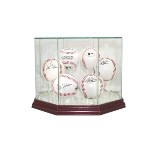 BASEBALL REAL GLASS DISPLAY CASE FOR 6 BALLS