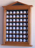 63 GOLF BALL WOOD DISPLAY CASE CABINET