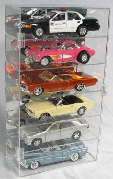 1/18 SCALE DIECAST CAR VERTICAL ACRYLIC DISPLAY CASE FOR 6