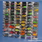 1/64 SCALE DIECAST ACRYLIC DISPLAY CASE - 72 MATCHBOX - HOT WHEELS CARS