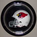 MINI HELMET ACRYLIC DISPLAY CASE - ROUND DOME - WALL MOUNT