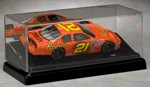 SINGLE 1/24 SCALE DIECAST CAR ACRYLIC DISPLAY CASE - SLANT BASE