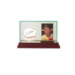BASEBALL & TRADING CARD GLASS DISPLAY CASE