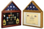 CEREMONIAL - PRESENTATION U.S. CAPITOL - CAPITAL FLAG DISPLAY CASE W/CERT HOLDER