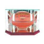 ETCHED GLASS FOOTBALL OCTAGON DISPLAY CASE