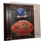MINI HELMET AND FOOTBALL ACRYLIC DISPLAY CASE