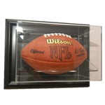 WALL MOUNT FOOTBALL ACRYLIC / WOOD DISPLAY CASE - HORIZONTAL