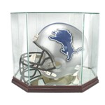 FULL SIZE FOOTBALL HELMET GLASS DISPLAY CASE - OCTAGON