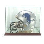 ETCHED GLASS FULL SIZE FOOTBALL HELMET DISPLAY CASE - RECTANGLE - DESKTOP