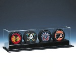 QUAD 4 HOCKEY PUCK ACRYLIC DISPLAY CASE - NHL LOGO