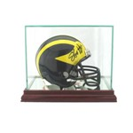 ETCHED GLASS SINGLE MINI HELMET GLASS DISPLAY CASE