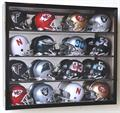 MINI HELMET ACRYLIC DISPLAY CASE WOOD CABINET - 16 FREE NAMEPLATES