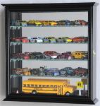 Mirrored back Hot Wheels - Matchbox Diecast Train Display Case Cabinet