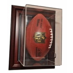 WALL MOUNT FOOTBALL ACRYLIC / WOOD DISPLAY CASE - VERTICAL