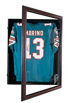 FOOTBALL JERSEY CABINET STYLE DISPLAY CASE: Custom Display Case