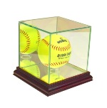 SOFTBALL GLASS DISPLAY CASE - DESKTOP