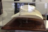 STETSON - COWBOY - WESTERN HAT ACRYLIC DISPLAY CASE - SOLID OAK BASE