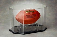 FOOTBALL OCTAGON SHAPE ACRYLIC DISPLAY CASE