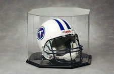 FULL SIZE FOOTBALL HELMET OCTAGON ACRYLIC DISPLAY CASE