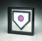 FULL SIZE BASEBALL HOME PLATE DISPLAY CASE