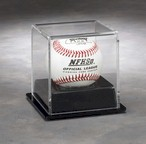 BASEBALL SINGLE ACRYLIC DISPLAY CASE - BLACK BASE